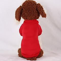 tanie Ubranka i akcesoria dla psów-Pies Bluzy Bluzy z kapturem Ubrania dla psów Jendolity kolor Black Czerwony Różowy Light Blue Bawełna Dół Kostium Dla zwierząt domowych