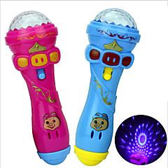 abordables Disfraces de Santa-Iluminación LED Micrófono Novedad Familia Cumpleaños Luminoso Iluminación Nuevo diseño Caucho Niños Chico Chica Juguet Regalo 1 pcs