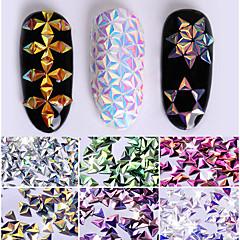 0.7g unicornio ab color lentejuelas lentejuelas triángulo camaleón iridiscentes 6 colores 3d decoración del arte del clavo consejos de