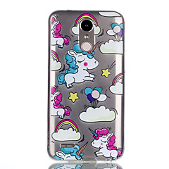 For Case Cover Pattern Back Cover Case Unicorn Soft TPU for LG LG K10 (2017) LG K8 (2017)
