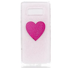billige Galaxy Note 5 Etuier-Etui Til Note 8 Ultratyndt Mønster Bagcover Hjerte Glitterskin Blødt TPU for Note 8 Note 5 Edge Note 5 Note 4 Note 3 Lite Note 3 Note 2