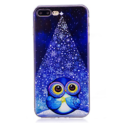 hoesje Voor iPhone X iPhone 8 Plus Patroon Achterkantje Uil Zacht TPU voor iPhone X iPhone 7s Plus iPhone 8 iPhone 7 Plus iPhone 7 iPhone