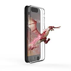 Кейс для Назначение Apple iPhone 7 Plus iPhone 6 Plus Ультратонкий Прозрачный Голый глаз 3D Задняя крышка Прозрачный Твердый Закаленное