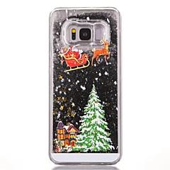 olcso Galaxy S6 tokok-Case Kompatibilitás Samsung Galaxy S8 Plus S8 Folyékony Minta Fekete tok Karácsony Kemény PC mert S7 edge S7 S6 edge S6
