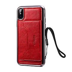 Недорогие Кейсы для iPhone 7-Кейс для Назначение iPhone 7 Plus IPhone 7 Apple iPhone X iPhone X iPhone 8 Бумажник для карт со стендом Кейс на заднюю панель Сплошной