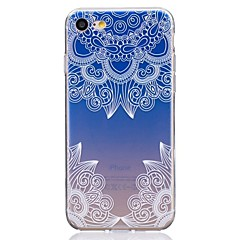billige iPhone 4s / 4-etuier-Etui Til Apple iPhone X iPhone 8 Ultratyndt Transparent Mønster Bagcover Blonde Tryk Blødt TPU for iPhone X iPhone 8 Plus iPhone 8 iPhone
