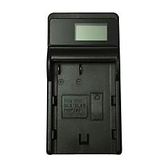 ismartdigi el3e lcd usb aparat fotograficzny ładowarka do nikona el-el3e d90 d80 d300s d300 d700 d200 - czarny