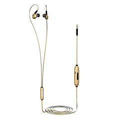 da62g 귀에 유선 헤드폰 다이나믹 알루미늄 합금 스포츠&볼륨 조절 헤드셋이있는 마이크가있는 피트니스 이어폰