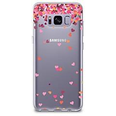 olcso Galaxy S6 tokok-Case Kompatibilitás Samsung Galaxy S8 Plus S8 Átlátszó Minta Hátlap Szív Puha TPU mert S8 S8 Plus S7 edge S7 S6 edge plus S6 edge S6 S6