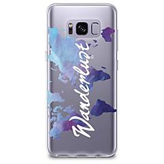 billige Galaxy S6 Etuier-Etui Til Samsung Galaxy S8 Plus S8 Transparent Mønster Bagcover Ord / sætning Blødt TPU for S8 S8 Plus S7 edge S7 S6 edge plus S6 edge S6