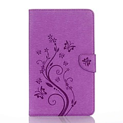 Embossed Pattern Card Holder with Stand Magnetic PU Wallet Leather Case Card Bag with Pattern for Samsung Galaxy Tab E 8.0 T377 T377V 8.0 inch Tablet