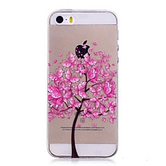 Kompatibilitás iPhone X iPhone 8 tokok IMD Átlátszó Minta Hátlap Case Pillangó Fa Puha Hőre lágyuló poliuretán mert Apple iPhone X iPhone