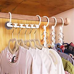 abordables Almacenamiento para Baño y Colada-hogar plástico ahorra espacio perchas antideslizantes percha multifunción colgador suspensión mágica útil