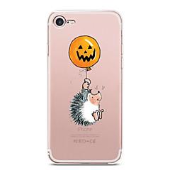для крышки корпуса ультратонкий прозрачный узор задняя крышка чехол для животных Хэллоуин мягкий tpu для яблока iphone x iphone 8 plus