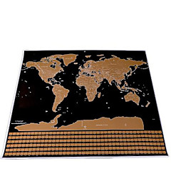 Scratch Map Scratch Off Map of the World for Travelers Toys Square Maps Kids Adults' 1 Pieces