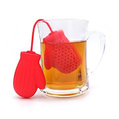 ieftine -1 buc Silicon Cafea si ceai Strecurătoare Ceai Drăguț Bucătărie Gadget creativ . 10.5*5.2*2.3cm
