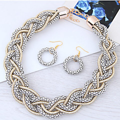 Women's Fashion Alloy Earrings Necklace For Party Wedding Gifts