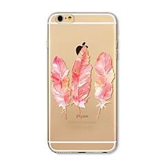 Недорогие Кейсы для iPhone 4s / 4-Кейс для Назначение Apple iPhone X / iPhone 8 Прозрачный / С узором Кейс на заднюю панель Перья Мягкий ТПУ для iPhone X / iPhone 8 Pluss / iPhone 8