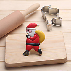 Weihnachtsmann mit Tasche Cookies Cutter Edelstahl Keks Kuchen Schimmel Fondant backen Werkzeuge