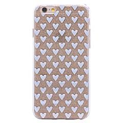 billige iPhone 4s / 4-etuier-Etui Til iPhone X iPhone 8 Mønster Bagcover Hjerte Glitterskin Blødt TPU for iPhone X iPhone 8 Plus iPhone 8 iPhone 7 Plus iPhone 7