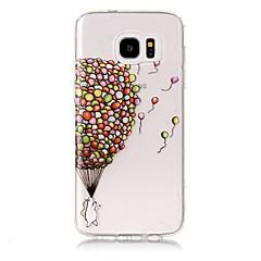 voordelige Galaxy S6 Edge Hoesjes / covers-hoesje Voor Samsung Galaxy S8 Plus S8 Transparant Patroon Achterkant Balloon Zacht TPU voor S8 Plus S8 S7 edge S7 S6 edge plus S6 edge S6