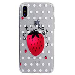 для чехлов крышка прозрачный узор задняя крышка чехол фрукты блеск блеск мягкий tpu для apple iphone x iphone 8 plus iphone 8 iphone 7