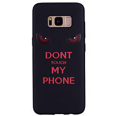 billige Galaxy S6 Etuier-Etui Til Samsung Galaxy Mønster Bagcover Ord / sætning Blødt Silikone for S8 S8 Plus S7 edge S7 S6 edge S6