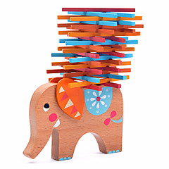 Bausteine Holz-Bauklötze Spielzeuge Elefant Holz Tiere Familie Freunde 40 Stücke Geschenk