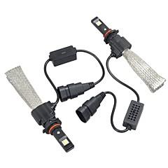 Недорогие Автомобильные фары-2pcs 9005 Автомобиль Лампы Интегрированный LED 6400 lm Налобный фонарь Назначение