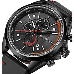 preiswerte Tolle Angebote auf Uhren-Herrn Quartz Armbanduhr / Sportuhr Japanisch Kalender / Cool / Nachts leuchtend / Stopuhr Echtes Leder Band Luxus / Freizeit / Modisch