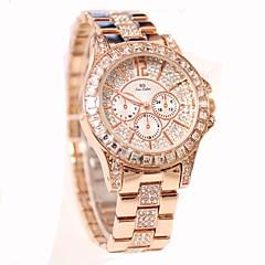 preiswerte Tolle Angebote auf Uhren-Damen Pavé-Uhr Quartz 30 m Schlussverkauf Edelstahl Band Analog Charme Freizeit Modisch Silber / Gold / Rotgold - Gold Silber Rotgold