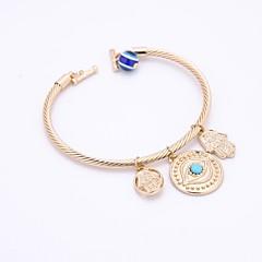 preiswerte Armbänder-Herrn Damen Synthetischer Aquamarin Armreife Armband - Böses Auge Retro, Elegant Armbänder Gold / Silber Für Party Normal