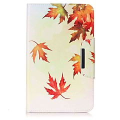 Leaf Pattern Card Holder Wallet with Stand Flip Magnetic PU Leather Case for Samsung Galaxy Tab E 8.0 T377 T377V 8.0 inch Tablet PC