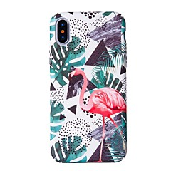 abordables Ofertas de Hoy-Funda Para Apple iPhone X iPhone 8 Diseños Funda Trasera Flamenco Dura ordenador personal para iPhone X iPhone 8 Plus iPhone 8 iPhone 7