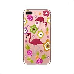 Funda Para iPhone X iPhone 8 Transparente Diseños Cubierta Trasera Flamenco Suave TPU para iPhone X iPhone 8 Plus iPhone 8 iPhone 7 Plus