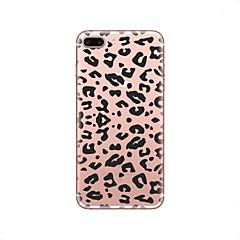 Etui Käyttötarkoitus iPhone X iPhone 8 Läpinäkyvä Kuvio Takakuori Leopardikuvio Pehmeä TPU varten iPhone X iPhone 8 Plus iPhone 8 iPhone