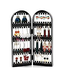 baratos Organizadores de Bijuteria & Maquiagem-brinco colar pulseira jóias empacotador organizador porta dobrável titular suporte de exibição
