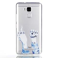 voordelige Hoesjes-hoesje Voor Asus Patroon Achterkantje Woord / tekst Zacht TPU voor Asus Zenfone 3 Max ZC520TL