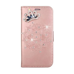 Недорогие Чехлы и кейсы для LG-Кейс для Назначение LG G3 LG LG G4 Бумажник для карт Кошелек Стразы со стендом Флип С узором Рельефный Своими руками Чехол Мандала Твердый