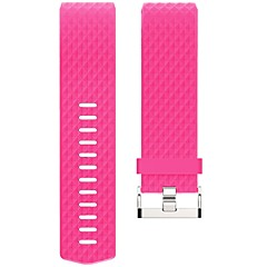 BAND For Fitbit Charge 2 Bands Replacement Band with Metal Clasp for Fitbit Charge 2 Band-Fuchsia