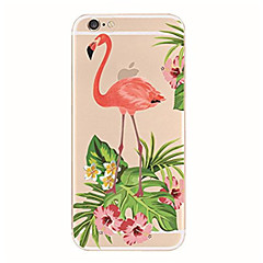 billige Dagens Tilbud-Til iPhone X iPhone 8 Etuier Transparent Mønster Bagcover Etui Flamingo Blødt TPU for Apple iPhone X iPhone 8 Plus iPhone 8 iPhone 7 Plus