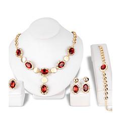 Γυναικεία Κουμπωτά Σκουλαρίκια Κρεμαστό Κρυστάλλινο Στρας Μοντέρνα κοσμήματα πολυτελείας Κρύσταλλο Στρας Oval Shape Cercei Βραχιόλι