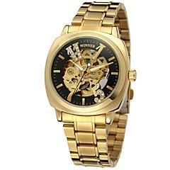 Χαμηλού Κόστους Γυναικεία ρολόγια-WINNER Γυναικεία Ρολόι Καρπού / μηχανικό ρολόι Εσωτερικού Μηχανισμού / Απίθανο Ανοξείδωτο Ατσάλι Μπάντα Πολυτέλεια / Βίντατζ / Καθημερινό Ασημί / Χρυσό / Αυτόματο κούρδισμα