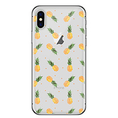 billige Etuier til iPhone 7-Til iPhone X iPhone 8 Etuier Transparent Mønster Bagcover Etui Frugt Blødt TPU for Apple iPhone X iPhone 8 Plus iPhone 8 iPhone 7 Plus