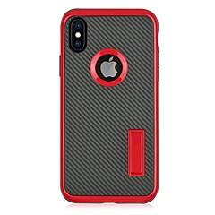 Кейс для Назначение Apple iPhone X iPhone 8 со стендом Задняя крышка Сплошной цвет Твердый PC для iPhone X iPhone 8 Plus iPhone 8 iPhone