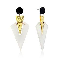 voordelige Druppeloorbellen-Dames Druppel oorbellen Ring oorbellen Opvallende sieraden Oversized Acryl Legering Rechthoekige vorm Geometrische vorm Sieraden Voor