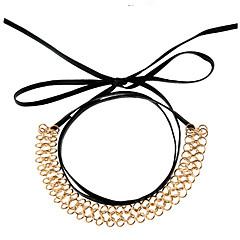 Жен. Ожерелья-бархатки Кожа Сплав европейский Мода Бижутерия Назначение Для вечеринок