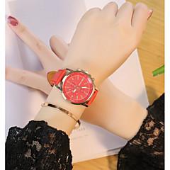 お買い得  大特価腕時計-男性用 女性用 レディース リストウォッチ クォーツ カジュアルウォッチ PU バンド ハンズ カジュアル ブラック / 白 / レッド - ブラック コーヒー レッド 1年間 電池寿命
