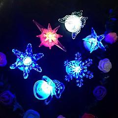 1db led éjszakai lámpa hópehely csillag pillangó ramdon