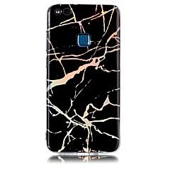 halpa Uudet tuotteet-Etui Käyttötarkoitus Huawei P8 Lite (2017) P10 Lite Pinnoitus IMD Takakuori Marble Pehmeä TPU varten Huawei P10 Lite Huawei P9 Lite